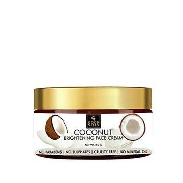 Good Vibes   Good Vibes Brightening Face Cream - Coconut (50 g)