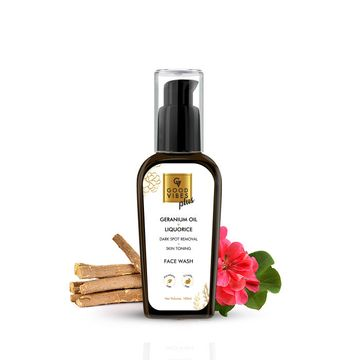 Good Vibes | Good Vibes Plus Dark Spot Removal + Skin Toning Face Wash - Geranium + Liquorice (100 ml)
