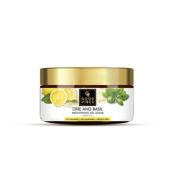 Good Vibes | Good Vibes Brightening Gel Scrub - Lime & Basil (50 g)