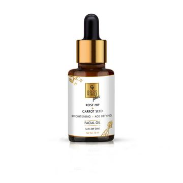 Good Vibes | Good Vibes Plus Rose Hip + Carrot Seed Brightening + Age Defying Facial Oil with 24K Gold (10 ml)