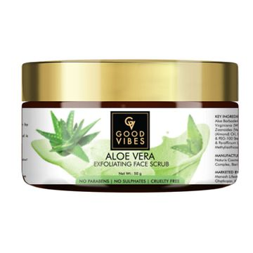 Good Vibes | Good Vibes Exfoliating Face Scrub - Aloe Vera (50 g)