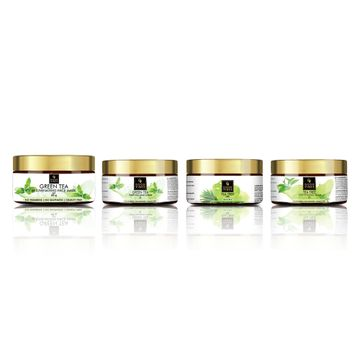 Good Vibes | Good Vibes Green Tea and Tea Trea Skin Care Combo (Set of 4) - Face Scrub, Mask, Cream, Gel