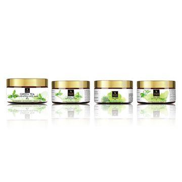 Good Vibes | Good Vibes Green Tea and Tea Trea Skin Care Combo (Set of 4) - Face Scrub, Mask, Cream, Gel