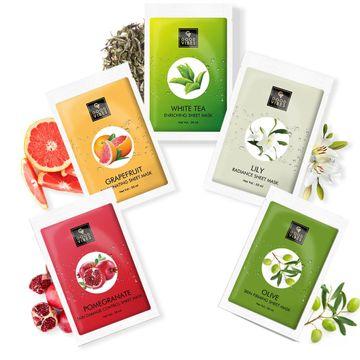 Good Vibes | Good Vibes Skin Rejuvenating Sheet Masks Combo (White Tea + Grapefruit + Lily + Pomegranate + Olive)