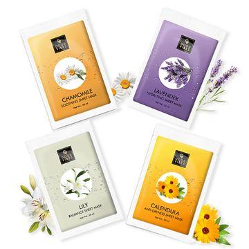 Good Vibes | Good Vibes Floral Sheet Mask Combo (Chamomile + Lavender + Lily + Calendula)