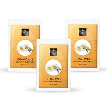 Good Vibes | Good Vibes Soothing Sheet Mask - Chamomile (20 ml) - (Pack of 3)