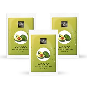 Good Vibes | Good Vibes Moisturizing Sheet Mask - Avocado (20 ml) - (Pack of 3)