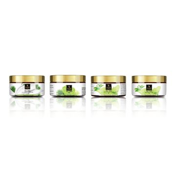 Good Vibes | Good Vibes Tea Tree Skin Care Combo (Set of 4) - Sleeping Mask, Scrub, Gel and Cream