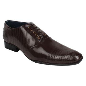 Guava   Guava Men's Patent Business Shoes - Brown