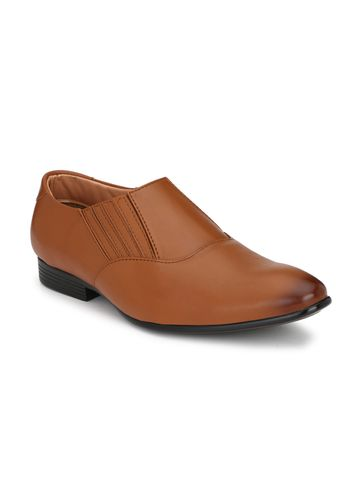 Guava | Guava Men's Elasto Formal Slip-On Shoes - Tan