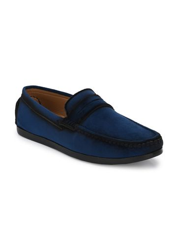 Guava | Guava Charming Velvet Casual Loafer Shoes - Blue