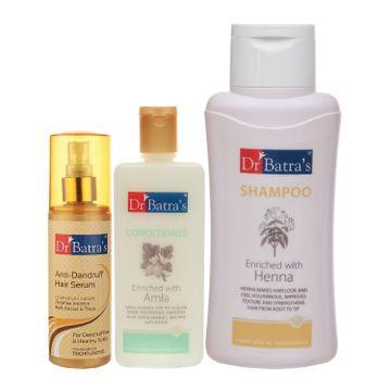 Dr Batra's | Dr Batra's Anti Dandruff Hair Serum, Conditioner - 200 ml and Normal Shampoo - 500 ml