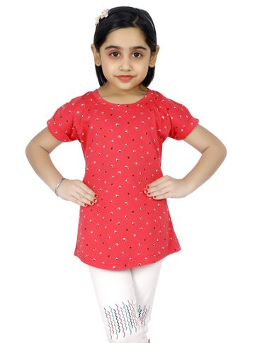 Impex | Impex Printed Red Tshirt For Girl