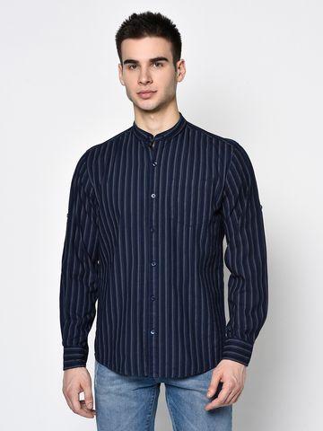 METTLE | Men INDIGO Casual Shirts