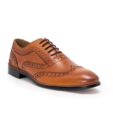 Hats Off Accessories | Hats Off Accessories Genuine Leather Tan Brogues Shoes