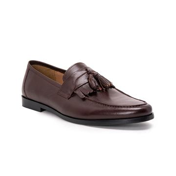 Hats Off Accessories | Hats Off Accessories Genuine Leather Burgundy Loafers