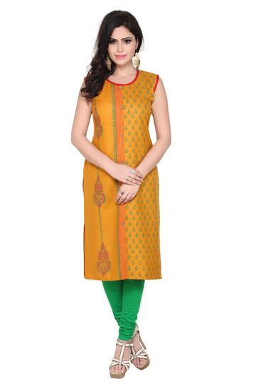 Havva Fashion | Sleevless Hand Block Printed Kurti