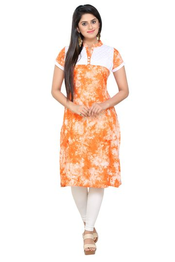 Havva Fashion | Printed Rayon Chicken Body Kurti