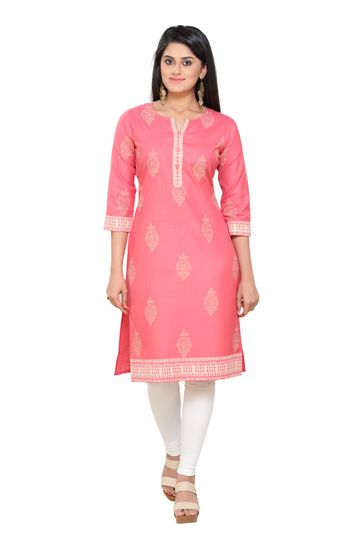 Havva Fashion | Kalankari Self Design Block Printed Kurti