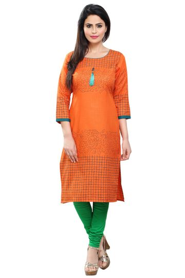 Havva Fashion | Self Designed Women Cotton Kurti
