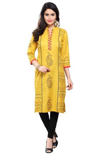 Havva Fashion | Printed Cotton Ladies Kurti