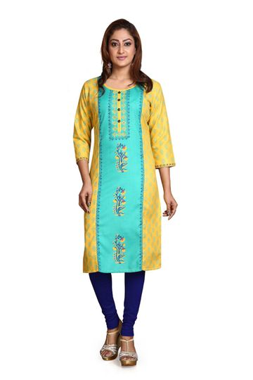 Havva Fashion | Printed Cotton Kurti
