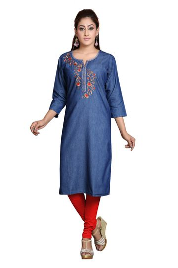 Havva Fashion | Stylish Denim Women Kurti