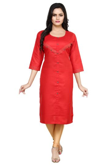 Havva Fashion | Round Neck DMC Silayi Cotton Kurti