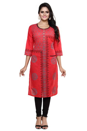 Havva Fashion | Cotton Cambric Printed Kurti