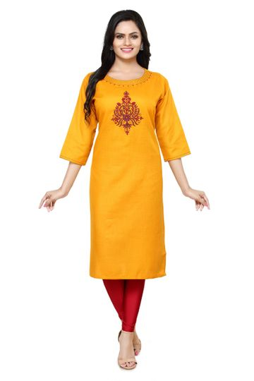 Havva Fashion | Boat Neck Embridered Kurti