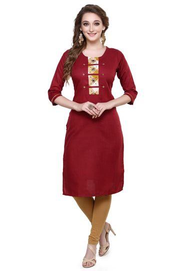 Havva Fashion | Katha Work Cotton Kurti