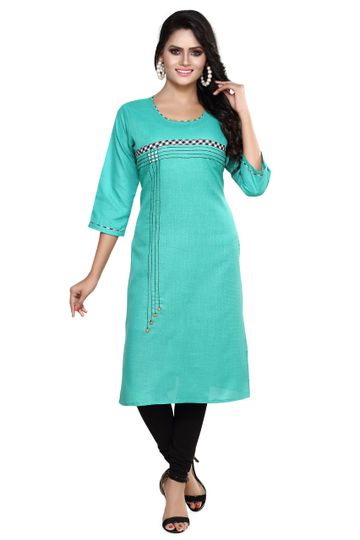 Havva Fashion | Designer Checks DMC Stitched Kurti