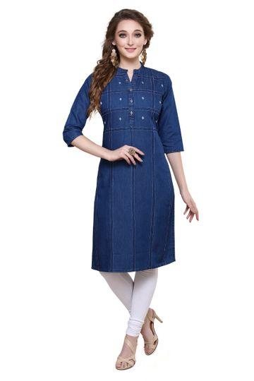 Havva Fashion | Lovely Soft Denim Kurti