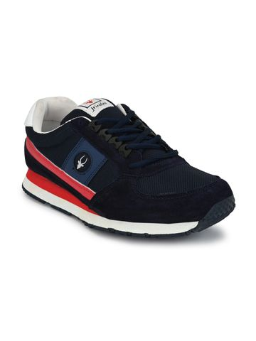 Hirolas | Hirolas Men's Multisport Leather Sneaker Shoes- Blue/Red