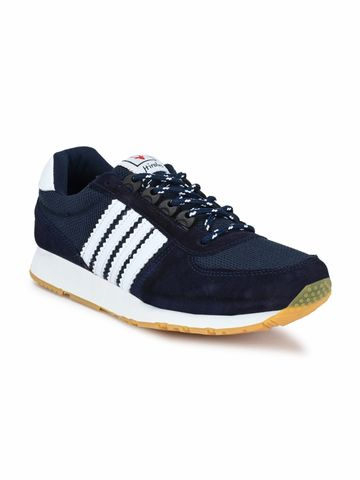 Hirolas | Hirolas Men's Multisport Leather Sneaker Shoes- Blue/White