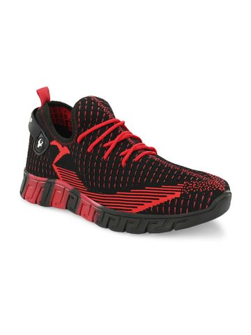 Hirolas | Hirolas® Men's Knitted athleisure Sports Shoes - Black/Red