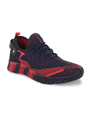 Hirolas | Hirolas® Men's Knitted athleisure Sports Shoes - Blue/Red