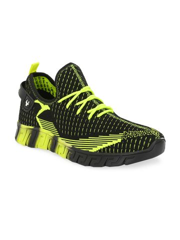Hirolas | Hirolas® Men's Knitted athleisure Sports Shoes - Black/Green