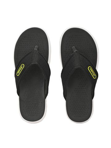 Hirolas | HIROLAS CLOUDWALK | Comfortable | Ultra-Soft | Light-Weight | Shock Absorbent | Bounce Back Technology | Water-Resistant | Flip Flops | Slippers for Men - Black