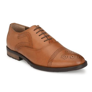 Hitz   Hitz Brown_Genuine Leather Party Wear Shoes For Men With Lace-Up