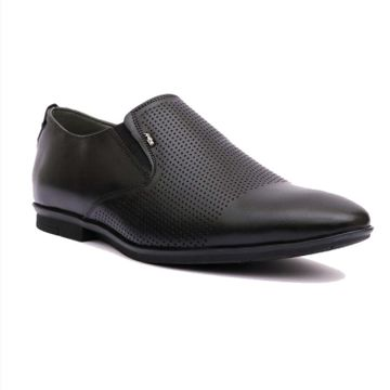 Hitz | Hitz Black_Genuine Leather Slip-On Party Wear Shoes For Men