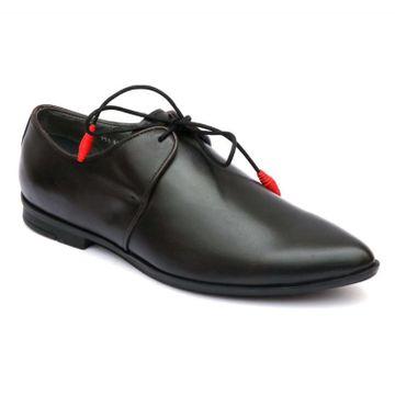 Hitz   Hitz Black Genuine Leather Formal Lace-Up Shoes For Men