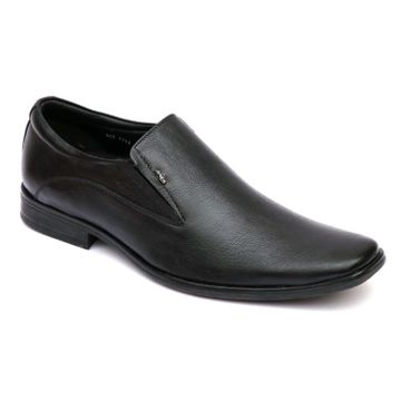 Hitz | Hitz Black Leather Slip-On Formal Shoes For Men