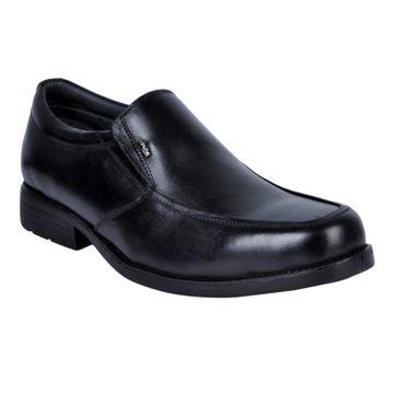 Hitz | Hitz Black Leather Slip-On Formal Shoes For Men