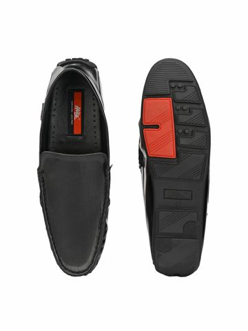 Hitz   Hitz Black Casual Loafers with Slip-On Fastening For Men
