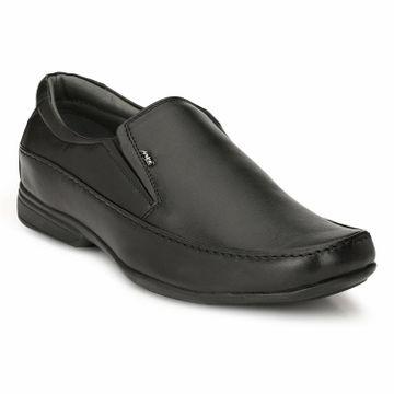 Hitz | Hitz Black Leahter Comfort_ Slip-On Shoes For Men