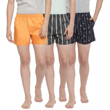 La Intimo | Feather Snug Striped Boxers - Pack of 3