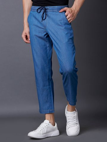 MARCA DISATI | Light Blue Solid Cropped Jeans