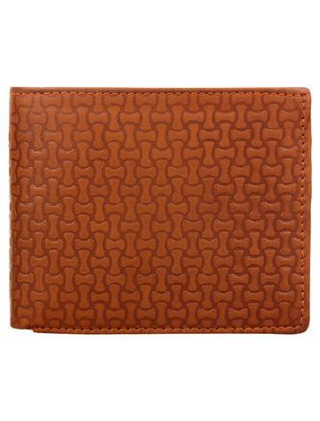 CREATURE | CREATURE Designer Brown Embossed Bi-fold Sleek PU Leather Wallet with Multiple Card Slots for Men