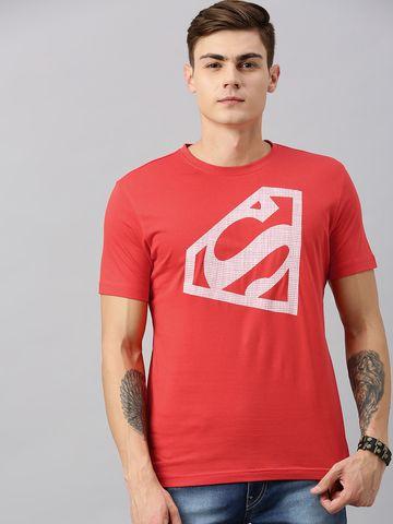 HUETRAP   Superman by Huetrap Men Red & White Printed Rogue Round neck T-Shirt
